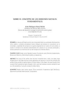 SOBRE EL CONCEPTO DE LOS DERECHOS SOCIALES FUNDAMENTALES