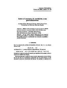 Sobre el concepto de mediatriz y sus generalizaciones
