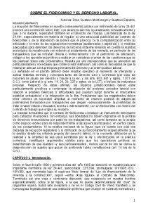 SOBRE EL FIDEICOMISO Y EL DERECHO LABORAL