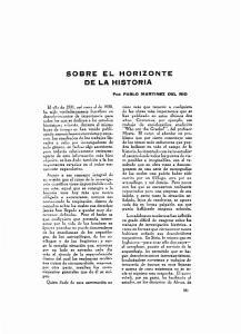SOBRE EL HORIZONTE DE LA HISTORIA