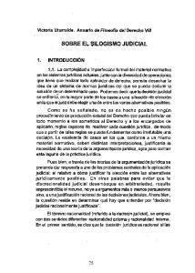 SOBRE EL SILOGISMO JUDICIAL