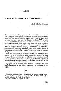 SOBRE EL SUJETO DE LA HISTORIA *