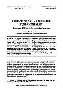 SOBRE EUTANASIA Y DERECHOS FUNDAMENTALES
