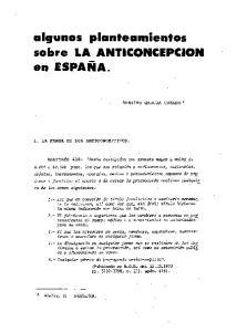 sobre LA ANTICONCEPCION en ESPANA