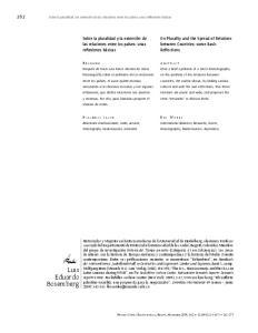 Sobre la pluralidad y la extensión de las relaciones entre los países: unas reflexiones básicas