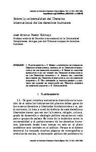 Sobre la universalidad del Derecho internacional de los derechos humanos