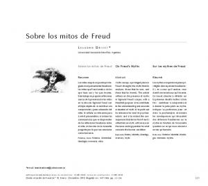 Sobre los mitos de Freud