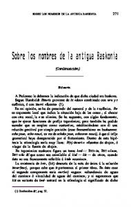 Sobre los nombres de la antigua Baskonia