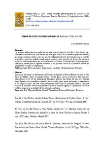 SOBRE RECIENTES PUBLICACIONES DE LAS MIL Y UNA NOCHES