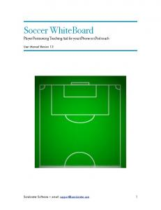 Soccer WhiteBoard Player Positioning Teaching Aid for your iphone or ipod touch