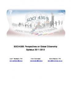 SOCI430B: Perspectives on Global Citizenship Syllabus