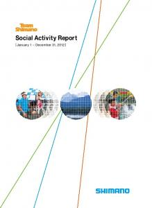 Social Activity Report. [January 1 December 31, 2012]