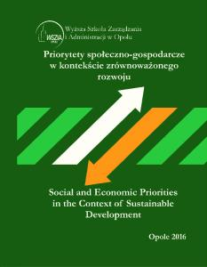 SOCIAL AND ECONOMIC PRIORITIES IN THE CONTEXT OF SUSTAINABLE DEVELOPMENT