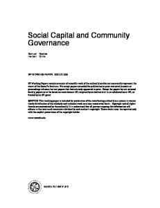 Social Capital and Community Governance