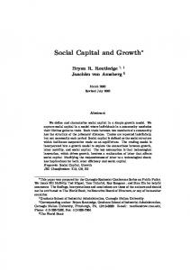 Social Capital and Growth