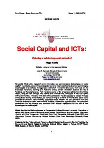 Social Capital and ICTs: