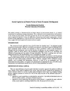 Social Capital as an Elusive Factor of Socio-Economic Development