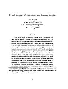 Social Capital, Cooperation, and Human Capital