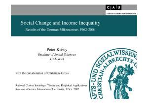 Social Change and Income Inequality