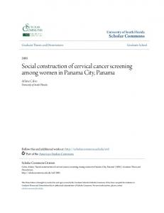 Social construction of cervical cancer screening among women in Panama City, Panama