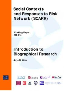 Social Contexts and Responses to Risk Network (SCARR)