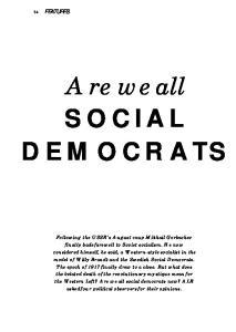 SOCIAL DEMOCRATS. Are we all