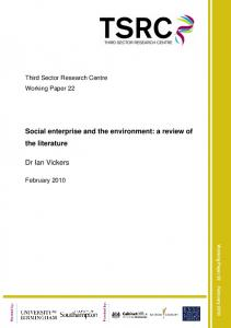 Social enterprise and the environment: a review of the literature