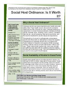 Social Host Ordinance: Is It Worth It?