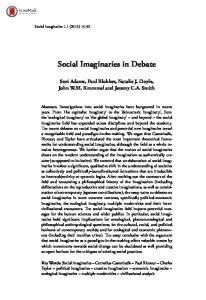 Social Imaginaries in Debate