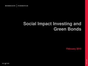 Social Impact Investing and Green Bonds