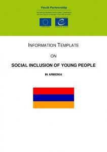 SOCIAL INCLUSION OF YOUNG PEOPLE IN ARMENIA