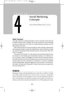 Social Marketing Concepts