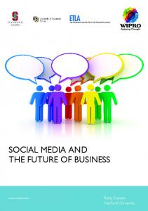 SOCIAL MEDIA AND THE FUTURE OF BUSINESS