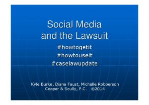 Social Media and the Lawsuit