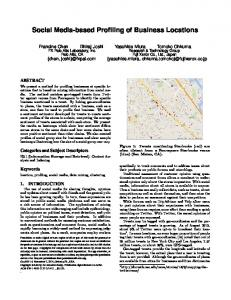 Social Media-based Profiling of Business Locations