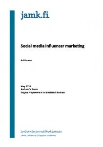 Social media influencer marketing