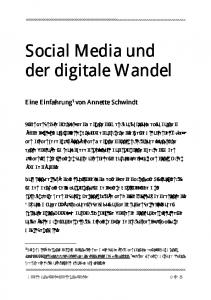 Social Media und der digitale Wandel