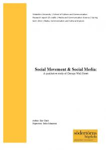 Social Movement & Social Media: