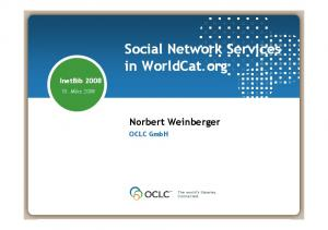 Social Network Services in WorldCat.org