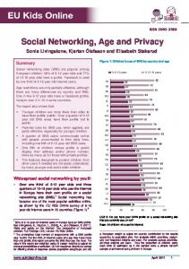 Social Networking, Age and Privacy