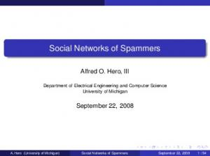 Social Networks of Spammers
