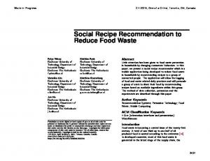 Social Recipe Recommendation to Reduce Food Waste