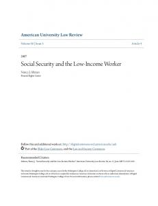 Social Security and the Low-Income Worker