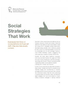 Social Strategies That Work