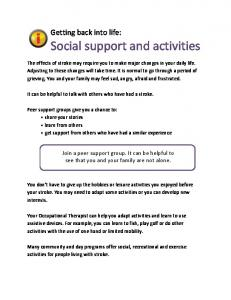 Social support and activities