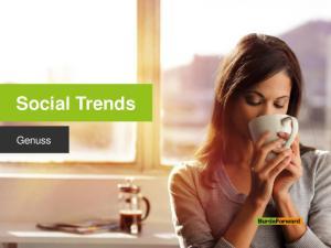 Social Trends. Genuss