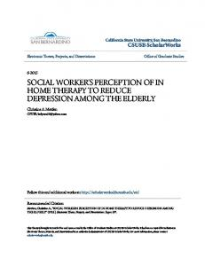 SOCIAL WORKER'S PERCEPTION OF IN HOME THERAPY TO REDUCE DEPRESSION AMONG THE ELDERLY