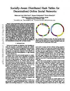 Socially-Aware Distributed Hash Tables for Decentralized Online Social Networks