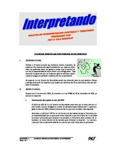 SOCIEDAD IRREGULAR POR PERDIDA DE PATRIMONIO