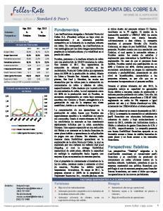 SOCIEDAD PUNTA DEL COBRE S.A. INFORME DE CLASIFICACION Septiembre 2012